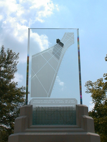 East facing Spectra sundial with inscription