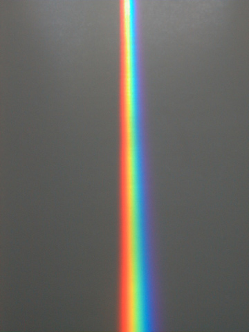 The Spectra sundial's signature prism beam