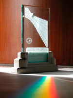 Spectra sundial making rainbow color in England