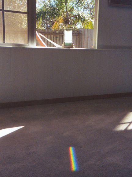 Spectra sundials fill the room with rainbow color