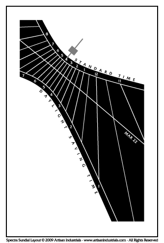 Spectra sundial layout for Freeville, New York USA