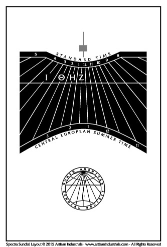 Spectra sundial layout for Modena, Italy